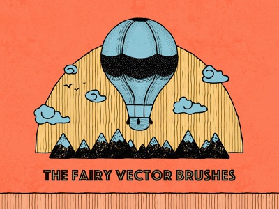 The Fairy Illustrator Brushes download drawing vector fineliner dots etched illustration illustrator brushes brush ai