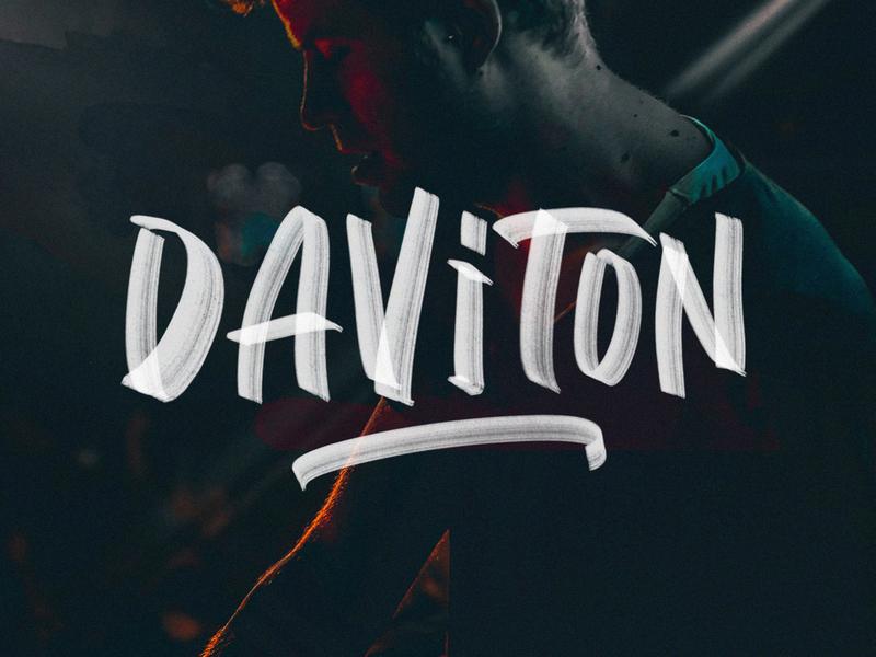 Daviton SVG Freestyle Font by Pixelbuddha on Dribbble