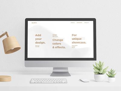 Scandi Vanilla MacBook & iMac Mockup Set macbook design website showcase mock-ups imac showcase mockups psd download