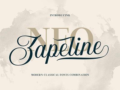 Neo Zapeline Font Family typeface type serif script sans-serif lettering letter fonts display ampersand