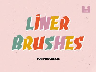 Freebie: Liner Procreate Brushes ipad sketch lettering brush brushes procreate brushes procreateapp procreate liner free freebie download pixelbuddha