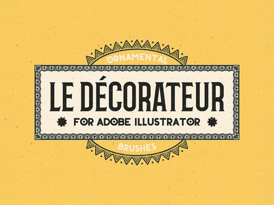 Le Decorateur Ornamental Brushes Collection