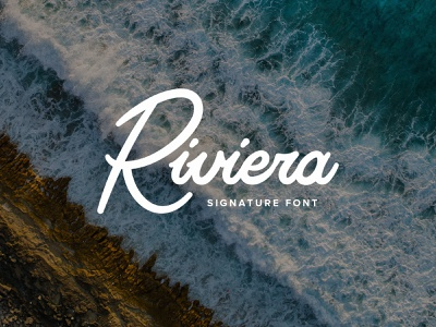 Riviera Signature Font feminine elegant fashion ligature script instagram branding luxury signature hand-lettered font download