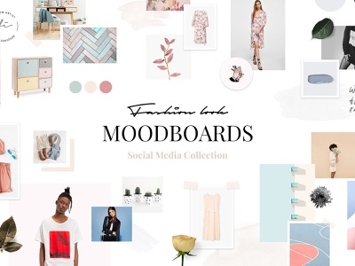 Feminine Social Media Templates photo create inspiration brand download blogger blog feminine stories psd templates social media pinterest instagram moodboard board mood