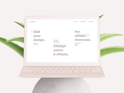 Scandi Vanilla MacBook & iMac Mockup Set