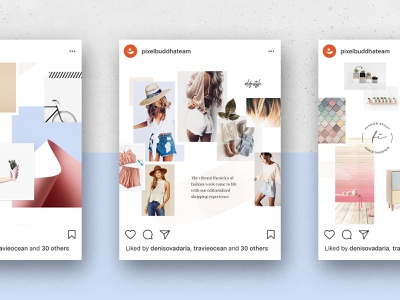 Feminine Social Media Templates templates stories social media psd pinterest photo moodboard mood instagram inspiration feminine download brand board blogger blog