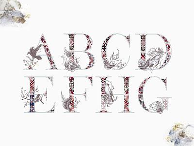 Freebie: Noel Whisper Watercolor Alphabet monogram wedding graphic clipart invitation moroccan pattern decorative alphabet watercolor