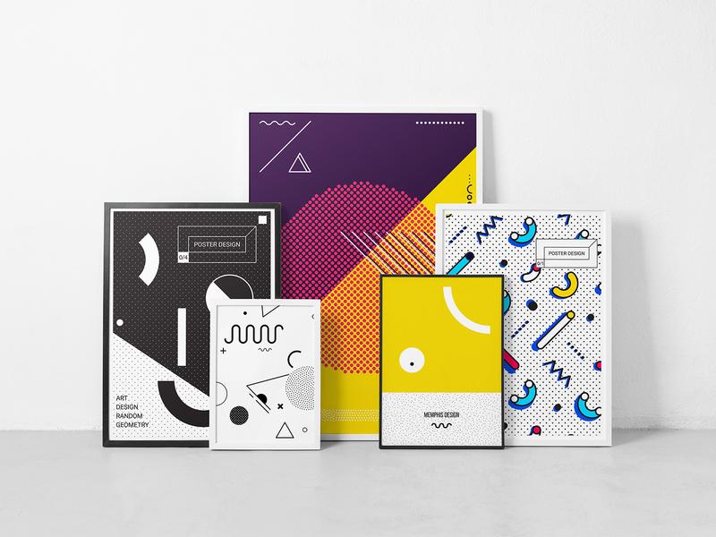 Neo Memphis Megaset template poster design pixelbuddha neo memphis graphic vectors elements geometry download