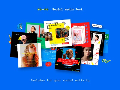 Mono Instagram Templates Kit poster blogger banner facebook media social media kit template psd instagram pixelbuddha download