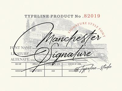 Manchester Signature Font sign typeface vintage elegant script ink pen handwritten signature font