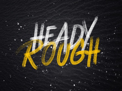 Heady Rough SVG Typeface pixelbuddha plus typeface svg hand-painted brush font download