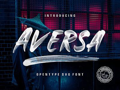 Aversa Brush Font download lettering handwritten typeface opentype svg brush font