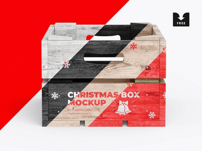Freebie: Christmas Box Mockup
