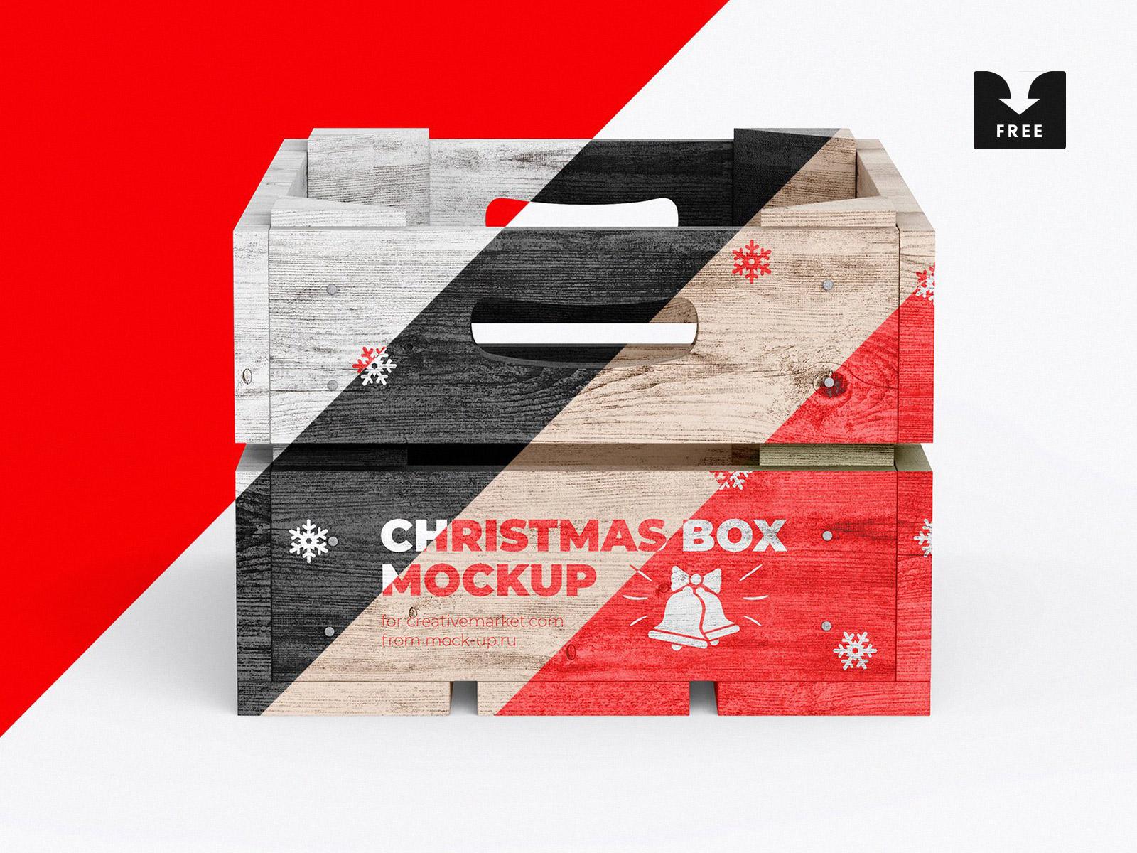 Download Freebie: Christmas Box Mockup