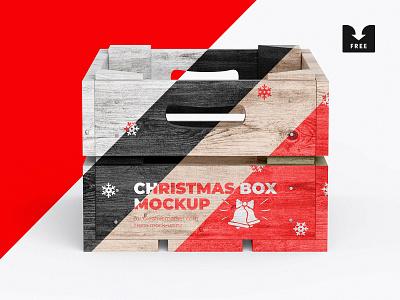 Freebie: Christmas Box Mockup wood wooden new year psd download pixelbuddha freebie free mockup box christmas