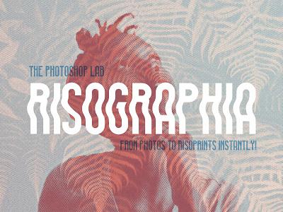 Risographia Photoshop Styles pixelbuddha print screenprint risograph canvas dots halftone glitch double exposure styles download