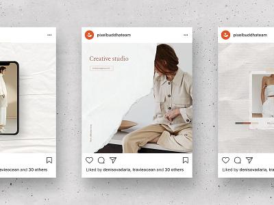 Waimea Social Media Kit pixelbuddha download psd template instagram social post canva elegant lifestyle fashion