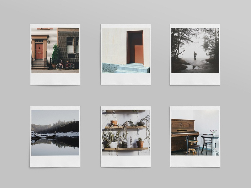 Realistic Polaroid Mockup Set photograhy pixelbuddha showcase mockup mockups polaroid photo vintage download