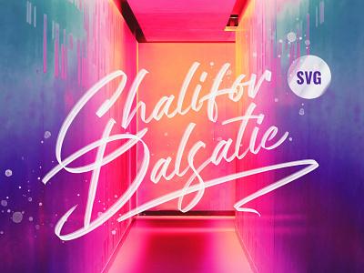 Chalifor Dalsatic SVG Font poster signature pixelbuddha script lettering display typeface svg font download