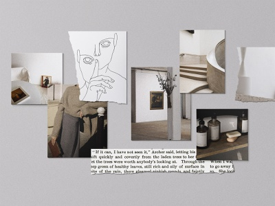 Realistic Mood Board Kit Vol.2 moodboard mood mood board board digital brand tile style pinterest fashion instagram social media collage blog download