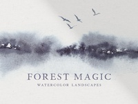 Forest Magic Watercolor Art