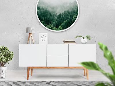 Aluminium Print Mockup pixelbuddha mockup mock-up mockups showcase aluminium print interior design download
