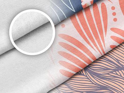Cotton Fabric Mockup Set mockup cotton fabric pattern textile design template mockups material print download psd