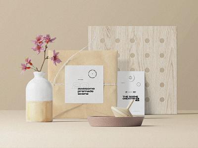Fresh Scene Creator pixelbuddha mockup psd template mockups tag paper shadow branding showcase stationery