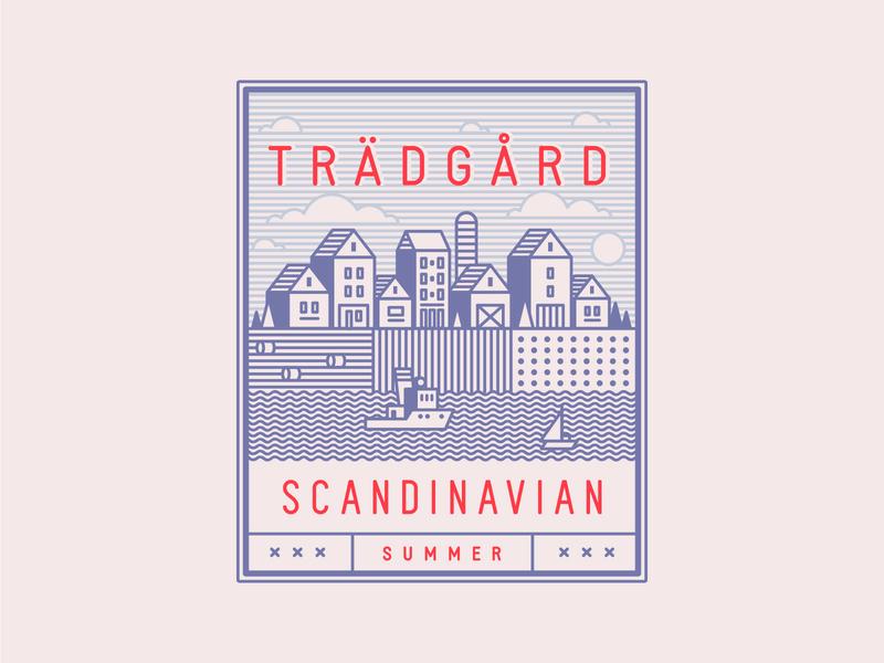 Scandinavian Summer Vector Set generator template ilustrations clipart vector icons patterns logo scandinavian design logo design download