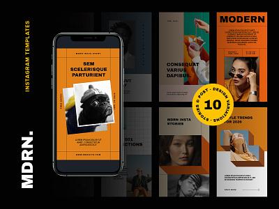 MDRN Instagram Templates media social psd download design layout stories template post instagram