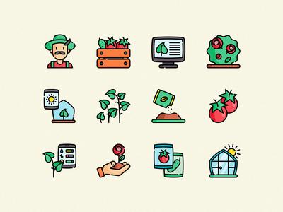 Freebie: Greenhouse Vector Icons