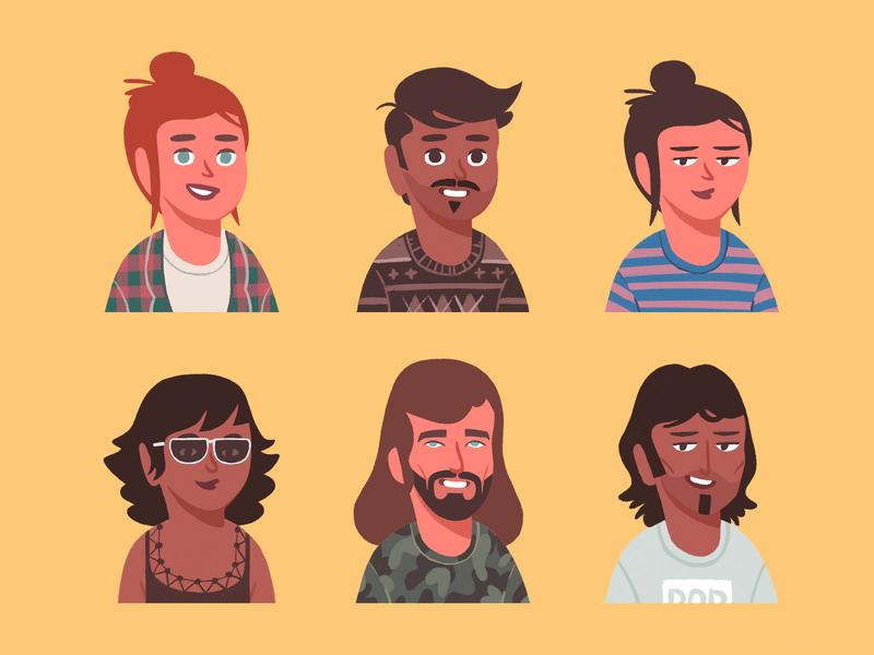 Persona Portrait Creator constructor vector download pixelbuddha creator portrait profile generator face avatar
