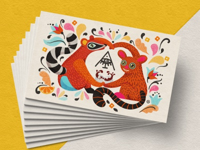 Alebrijes branding logo cat app design clean best vector character illustration