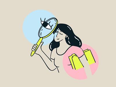 we are hiring hr looking for work job hiring branding design vector character illustration
