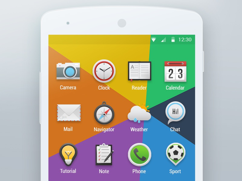 Icons for Android Launcher colors clean mail calendar ux ui mobile cam best bright android icon