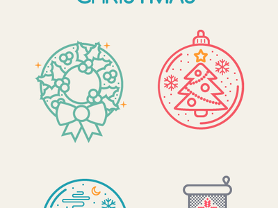 Christmas Icon set christmas icon snow winter sock snowflake free eps illustration year holidays freebie