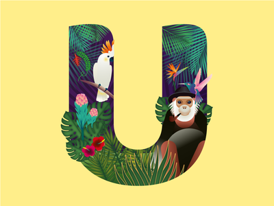 """Letter """"U""""  for 36 days of type project"""