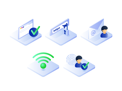 Protect Yourself From Phishing Attacks isometric technology virus cyber fishing attack illustration security system ui ux