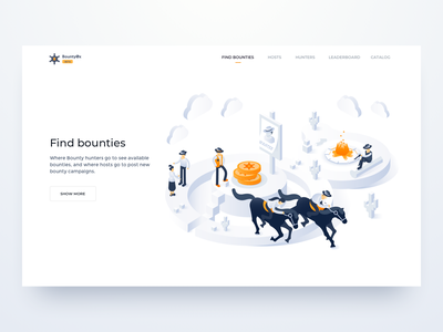 The Wild West World wild west sheriff horse landing page web interface app vector isometric design character ui ux illustration