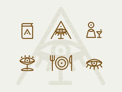 Icons for Instagram bar instagram stories bartender cocktail food menu soul eye minimal typography vector best branding design logo icon flat