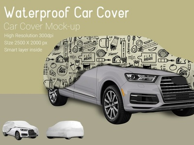 [FREE MOCK-UP] Car Cover PSD Mock-up