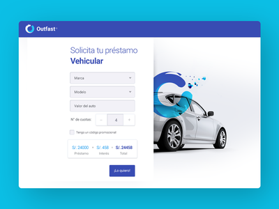 Outfast Car ux blue huancayo car ui design
