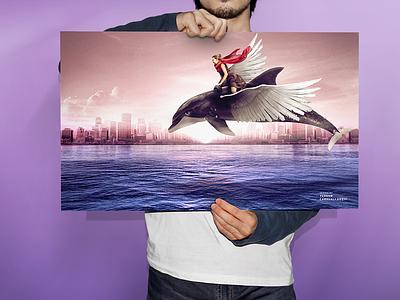 Delfin Volador graphic delfin design
