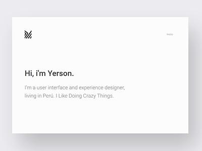 Simple personal site | yerson.space peru yerson web minimal portfolio