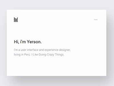 Simple personal site | yerson.space