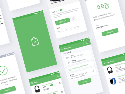 E-commerce UI App for Android ux ui peru mobile material ecommerce android design