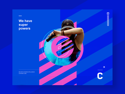 We have super powers | CN #001 digital business huancayo design contanex blue poster