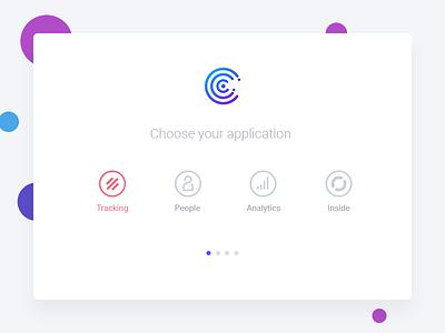 Screen Choose App | Contanex ux brand contanex web ui