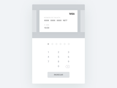 Access Card Bank [WIP] clean access login bank card credit web wireframe ui