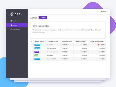 Cash - UI Web App dashboad design contanex angular user inteface ui web